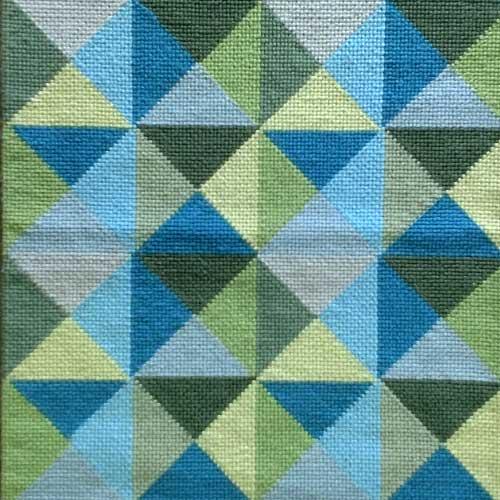 Tapete Composição azuis e verdes - 1,26 x 0,62