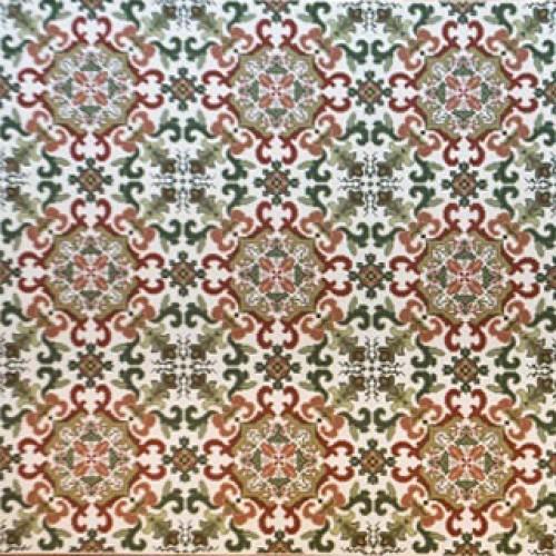 Tapete Igarassu ferrugem e verde 2,51 x 2,01