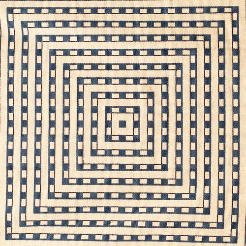 Tapete dimensão azul e cru 1,99 x 1,33 m