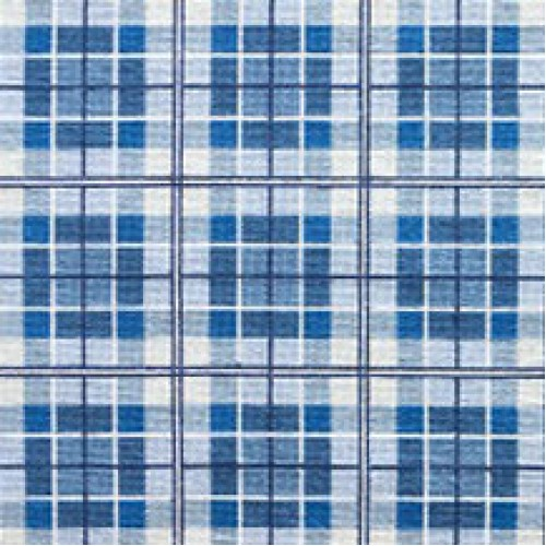 Tapete Plaid azul 1,58 x 0,74m