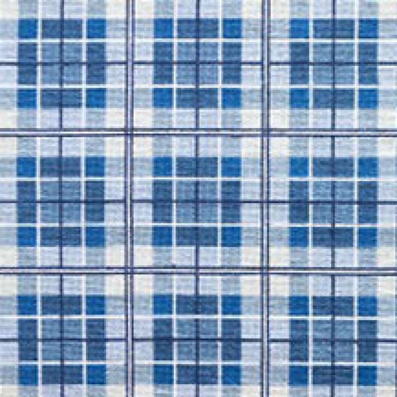 Tapete Plaid azul 1,58 x 0,74m