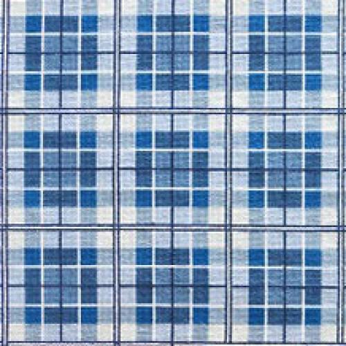 Tapete Plaid azuis 1,65 x 0,74m