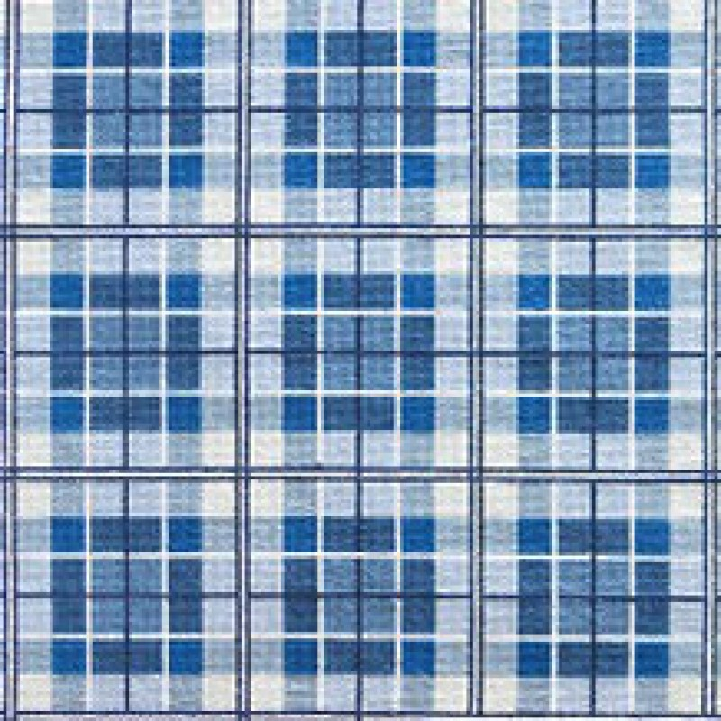 Tapete Plaid azuis 1,65 x 0,74m