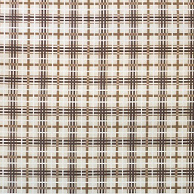 Tapete Plaid marrom 2,31 x 1,62