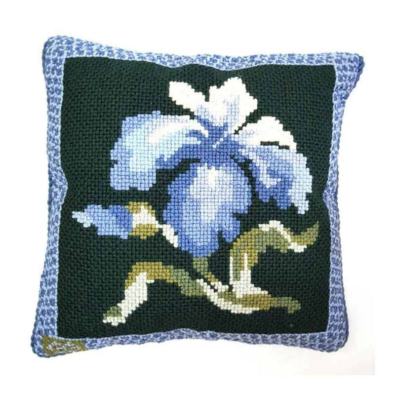 Almofada Le jardin verde e  azul