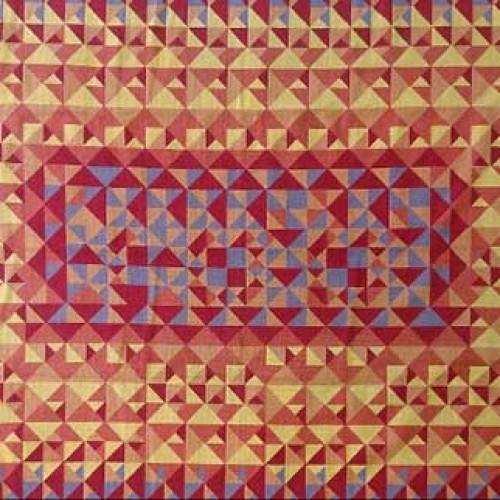 Tapete Composição laranja amarelo e lilás 2,91 x 1,94